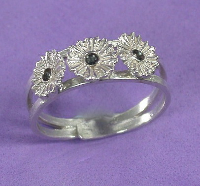 My flower silver ring