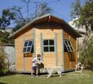 מבנה עץ - משרד מחומש פינתי
