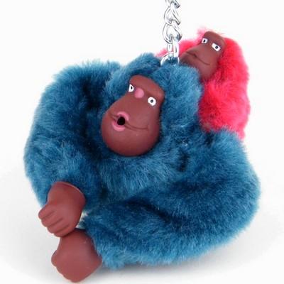 מחזיק מפתחות קוף כחול ותינוק אדום קיפלינג