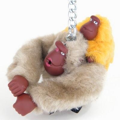 מחזיק מפתחות קוף אפור חם ותינוק חרדל קיפלינג