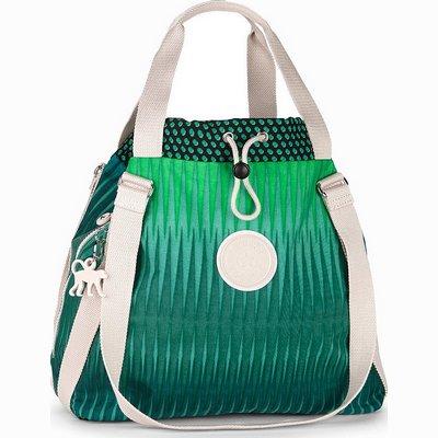 תיקים לנשים תיק מדהים וגדול קיפלינג לייזי דייזי ירוק מפל מים