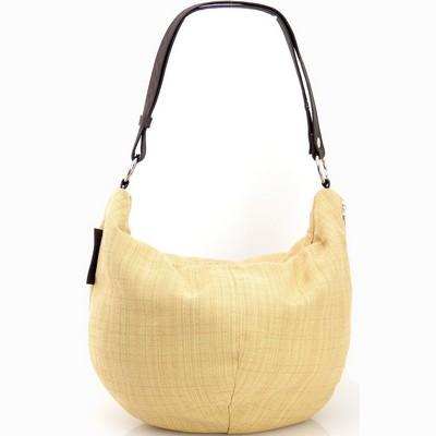 תיקים לנשים בד משולב עור מירב שגב שק צהוב