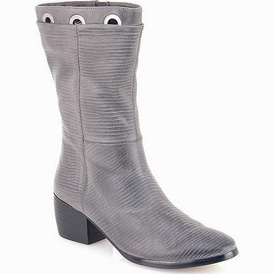 מגפיים לנשים גויה מגף טבעות אפור