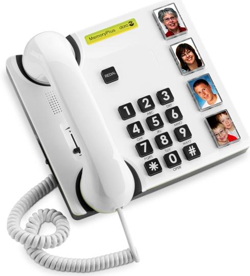 טלפון לכבדי שמיעה - ראייה | דגם - MemoryPlus 319ph  | שבדיה - doro