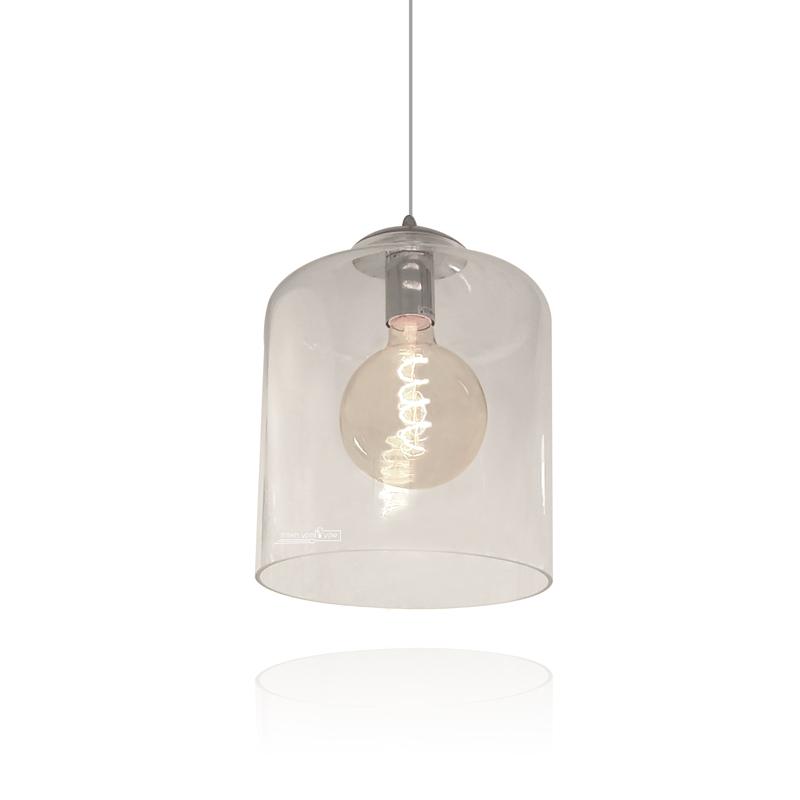 גוף תאורה מזכוכית סגנון וינטאג'