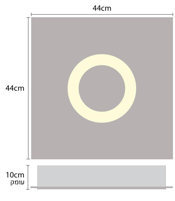 גוף תאורה לד שקוע תקרה בצורת טבעת