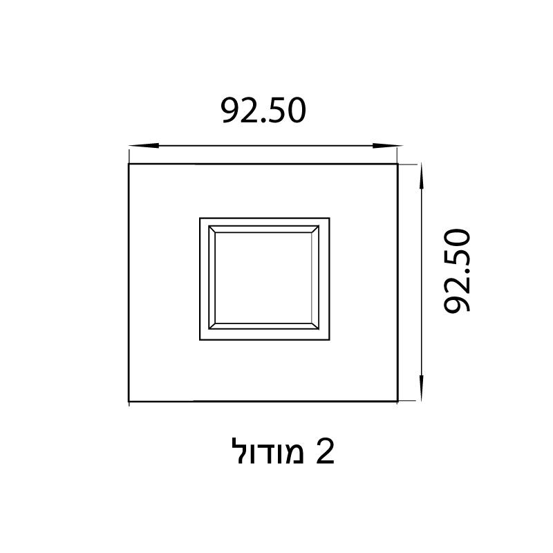 מסגרת זכוכית שחורה מט של ניסקו