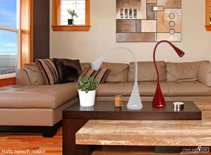 מנורת שולחן בצורת ברבור
