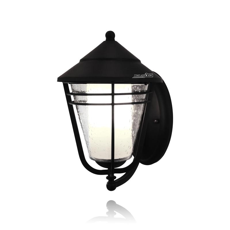 מנורת קיר מעוצבת לגינה עם זכוכית