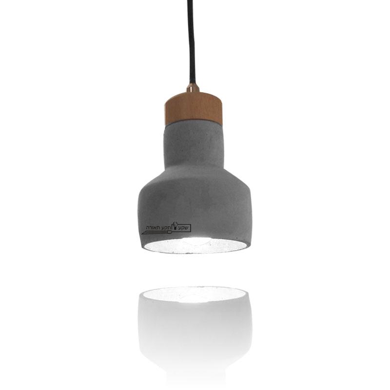 מנורה בטון עץ