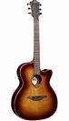 גיטרה אקוסטית מוגברת לג  LAG T100ACE-BRS