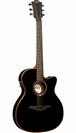 גיטרה אקוסטית לג  מוגברת שחורה דקה LAG T100ASCE-BLK