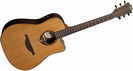 גיטרה אקוסטית מוגברת לג  LAG T300DCE