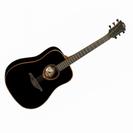 גיטרה אקוסטית לג  שחורה LAG T100D-BLK