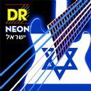 מיתרים לגיטרה חשמלית כחול-לבן DR NEON Electric 9-42