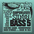מיתרים לבס ארני בל ERNIE BALL 2850 Slinky Nickel Wound Super Long Scale 5-String Bass 45-130