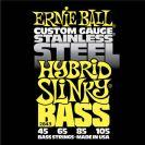 מיתרים לבס ארני בל ERNIE BALL 2843 Stainless Steel Hybrid Slinky Bass 45-105