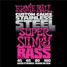 מיתרים לבס ארני בל ERNIE BALL 2844 Stainless Steel Super Slinky Bass 45-100