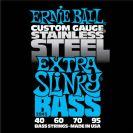 מיתרים לבס ארני בל ERNIE BALL 2845 Stainless Steel Extra Slinky Bass 40-95