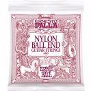 מיתרים לגיטרה קלאסית ארני בל ERNIE BALL 2409 Nylon Classical Black & Gold Ball End