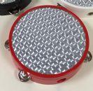 """טמבורין """"8 הולוגרמה בצבע אדום עם מצלצלים פאור ביט POWER BEAT TAM-85RD"""