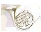 קרן יער (GOLDEN CUP JHFH1901N french horn(three piston single nickel plated