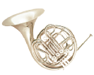 קרן יער (GOLDEN CUP JHFH1903S french horn(four pistones, single silver plated