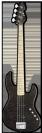 גיטרה בס ESP LTD E-II J-4 QM MAPLE STBLK