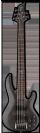 גיטרה בס 5 מיתרים  ESP LTD B-205SM