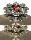 טמבורין ניקל כפול להרכבה על מצילת הייהט Rhythm Tech Double Hat Trick G2